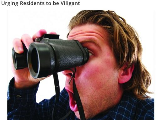 Urging Residents to be Vigilant
